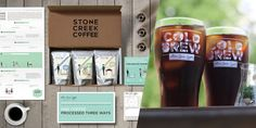 Stone Creek Coffeeis a Wisconsin basedsmall batch coffee roaster started  by Eric Resch and his wife, Melissa. About a year ago, Eric hireddesign  firmLP/w, also based in Wisconsin,to lend a handonthe overall brand  experience, in-store experience, and packaging.