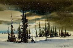Clearing by sterling edwards Watercolor ~ 15 x 22
