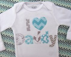 I heart DADDY T-Shirt or Onesie - Pick your color combo - Toddler Boys - Toddler Girls - Babies - Made to Order Coloring For Boys, Daddys Little Girls, Baby Wedding, Expecting Baby, Baby Makes, Daughter Of God, Baby Fever, Toddler Boys, Kids Fashion