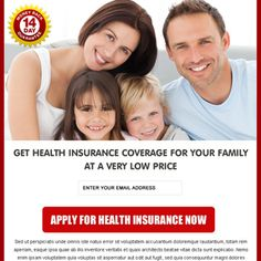 Buy health insurance coverage for family clean and converting ppv landing page for your business conversion