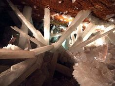 34. Giant crystal caves in Mexico.