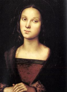 Pietro Perugino (1445-1523)  Mary Magdalen  Oil on panel, 1500  18 1/2 x 13 3/8 inches (47 x 34 cm)  Galleria Palatina (Palazzo Pitti), Flor...
