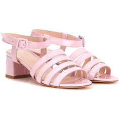 Maryam Nassir Zadeh Palma Patent Leather Sandals (10,740 MXN) ❤ liked on Polyvore featuring shoes, sandals, pink, pink patent shoes, patent sandals, pink sandals, maryam nassir zadeh and patent leather shoes