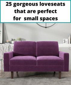 Purple twoseater sofa