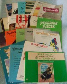Lot 20 Vintage Piano Music Books Sheet 1950 - 1990's