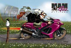 Bon Week End Image, Brittany, Badge, Humor, Comics, Motorcycles, Collage, Illustrations, Art