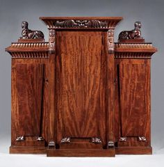 OnlineGalleries.com - A Rare Antique Regency Cabinet in the Egyptian Manner by George Bullock