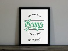 Hall and Oates Custom Color Poster You Make My by TheOystersPearl