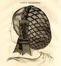 typical Civil War hair net