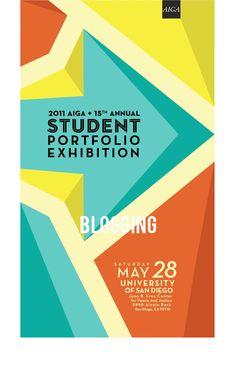 Image of AIGA Poster Design for 2001 Student Portfolio Exhibition