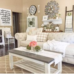 I Spy our Windmill #wallart in Cindy's Living Room. Such gorgeous #decor. Thx for sharing! #homedecor #livingroom