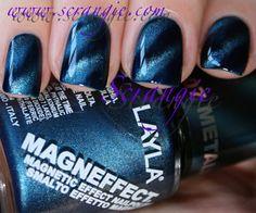 layla metallic sky magnetic nail polish