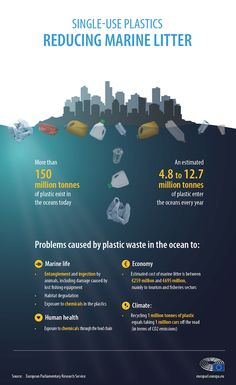 Infographic on key facts and issues caused by plastic waste in the ocean Ocean Pollution, Environmental Pollution, Plastic Pollution, Environmental Science, Plastic In The Sea, Recycling Facts, Ocean Projects, Save Environment, Save Our Earth