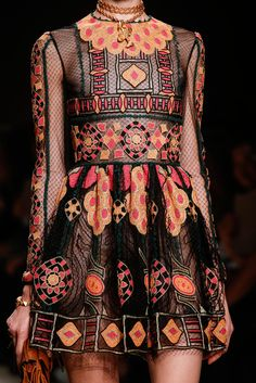 Valentino Spring/Summer 2014 seen at Paris Fashion week. Western, ethnic dress