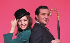 Patrick Macnee and Diana Rigg in The Avengers.  Patrick Macnee, the Imperious Leader in the original Battlestar Galactica died 25th June 2015.