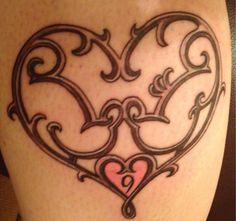 Mickey and Minnie Tattoo - logo from Tokyo Disney Valentines 2014 Hidden Mickey