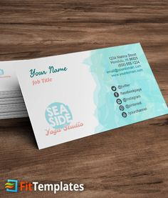 42 best business cards images on pinterest business card templates beach yoga business card template accmission Choice Image
