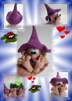 Hello, Here is a PDF crochet guide for a cute little leprechaun with big feet. He is 11 cm (without hat) and 17 cm (with hat) high. The guide has 19 pages and is exactly described and with many photos. This offer is a crochet instruction and not the finis