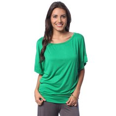 bf373dcf 24/7 Comfort Apparel Women's Banded Dolman Top - Overstock™ Shopping - The  Best
