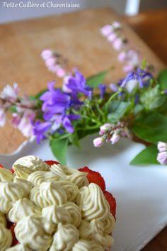 Tartelette aux fraises et crème de pistache Cheesecakes, Flowers, Desserts, Plants, Flat Cakes, Strawberries, Mascarpone, Tailgate Desserts, Deserts
