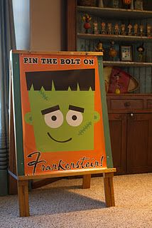 Pin the Bolt on Frankenstein Game --- could work with monster high party also