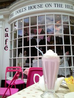 Cherry Milkshake mmmm at The Dolls House on the Hill - Harrow on the Hill