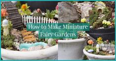 Let your imagination soar by learning how to make miniature fairy gardens here! This is a really fun & unique gardening project that is perfect for everyone.