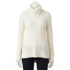 ELLE™ Cable-Knit Turtleneck Sweater - Women's
