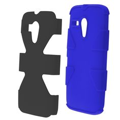 Insten Dynamic Soft Silicone Hybrid Hard Plastic Rubberized Matte Phone Case Cover For Motorola Moto G (/ Blue) #1868081