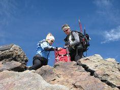 Costanzo e Sara sulla vetta della cima Cevedale