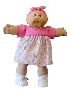 """Diana's Patch - Custom Cabbage Patch Kids and Clothing: Kimono Style Dress Pattern for 16"""" Cabbage Patch Kids Kimono Style Dress, Kimono Fashion, Fashion Dresses, Cabbage Patch Kids Clothes, Hook And Loop Tape, Rolled Hem, Doll Crafts, Different Fabrics, Doll Clothes"""