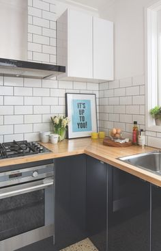 Black, white and wood | Kaboodle Kitchen