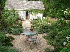 your gravel pea stone sitting area?
