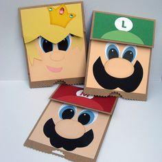 Super Mario Paper Bag Puppets.... felt cases ?