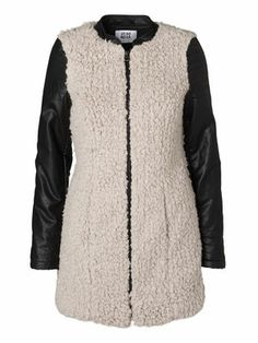COSY FAKE FUR JACKET, Light Grey Melange, main