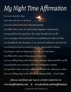 Nightly affirmations mixed with daily inspirations <3