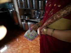 Photo in Women tucking handkerchief is saree waist - Google Photos Home Appliances, Saree, Google, Photos, Women, House Appliances, Pictures, Sari, Appliances