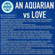 Aquarian Love - me to a tee Aquarius Pisces Cusp, Aquarius Traits, Aquarius Quotes, Aquarius Woman, Age Of Aquarius, Zodiac Signs Aquarius, My Zodiac Sign, Aquarius Tattoo, Aquarius Lover