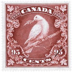 Antique design, new stamp.  Canadian Post 1999-2000