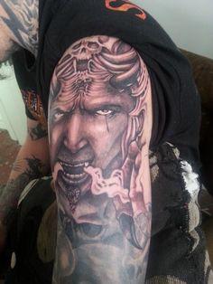 Jamie N Anita Marsh Tattoo Sleeves, Sleeve Tattoos, Portrait, Headshot Photography, Portrait Paintings, Arm Tattoos, Arm Tattoo, Drawings, Portraits