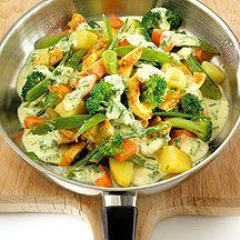Kippenreepjes met groenten   Gezonde Recepten   Weight Watchers