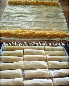 Crispy fritters with potatoes (from baklava pastry) kuchen ostern rezepte torten cakes desserts recipes baking baking baking Pastry Recipes, Dessert Recipes, Cooking Recipes, Comida Armenia, Turkish Recipes, Fritters, International Recipes, Food And Drink, Yummy Food