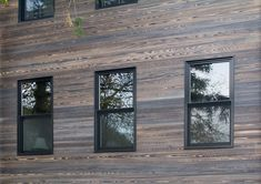 Jan Fogel selected reSAWN's MURASAKI shou sugi ban charred wood cypress for exterior siding for this town home in Park Slope, Brooklyn.