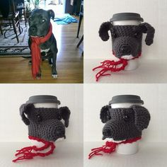 Good thin this dog has a scarf on because it's COLD outside today. #hookedbyangel #yarnlove #crochethat #dogcozy