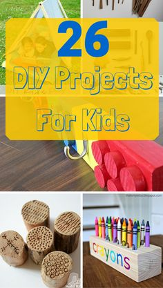 26 Kid-friendly and fun DIY projects that parents and children can tackle together! 26 Kid-friendly and fun DIY p Kids Woodworking Projects, Wood Projects For Kids, Wood Projects For Beginners, Wood Working For Beginners, Cool Diy Projects, Teds Woodworking, Woodworking Joints, Woodworking Furniture, Custom Woodworking