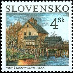 1997: Water Mill, Jelka (סלובקיה) (Technological Advances) Mi:SK 286,Sn:SK 278,Yt:SK 244,AFA:SK 267