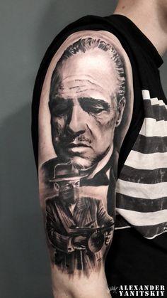 #Godfather #tattoo by #Alexander #Yanitskiy #Kipod #Kipodtattoo