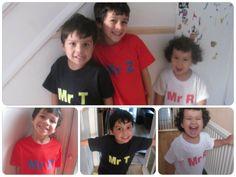 Sunday photo of personalised t shirts