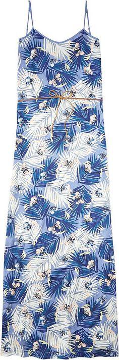 Hilfiger Denim präsentiert ein Maxikleid im sommerleichten Blumenmuster. Das Kleid ist gerade geschnitten und hat Spaghettiträger. Durch die Kordel an der Taille kann man das Maxikleid auch sehr figurbetont tragen.50% Baumwolle, 50% Modal...