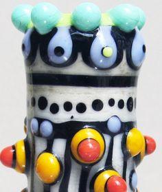 Totemin CreamHandmade Lampwork Glass Bead by beadygirlbeads, $39.00